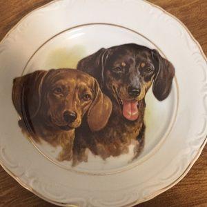 "Vintage collectors plate dogs Crown Regent 7 1/2"""